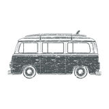 Grunge camper van Stock Photo