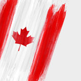 Grunge Canada flag background. Grunge Canadian flag background with watercolor brushed lines. Template for holidays, Canada day, invitation, poster, flyer Royalty Free Stock Photos
