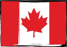 Grunge Canada flag or banner. Vector illustration Royalty Free Stock Images