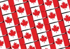 Grunge Canada flag or banner. Vector illustration Stock Photography