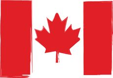 Grunge Canada flag or banner. Vector illustration Royalty Free Stock Photos