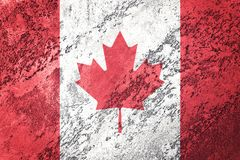 Grunge Canada flag. Canada flag with grunge texture. Stock Photography