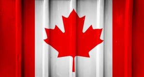 Grunge Canadese vlag Stock Afbeelding