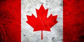 Grunge Canadese vlag Royalty-vrije Stock Afbeeldingen