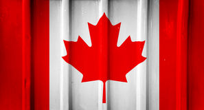 Grunge canadian flag Stock Image