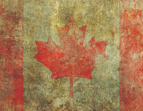 Grunge Canadian Flag Design Severly Faded and Damaged Stock Photo