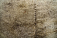 Grunge canvas. Closeup of wet stained tarpaulin as a grunge  background Stock Photography