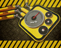 Grunge of Car meter Royalty Free Stock Image