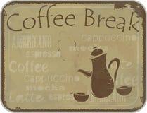 Grunge card coffee break Stock Photography