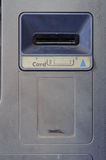 Grunge card insert slot of abandoned ATM Royalty Free Stock Photography