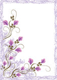 Grunge card with meadow flowers Stock Photography