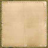Grunge card in scrapbooking style with  thread Royalty Free Stock Photo
