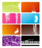 Grunge cards Stock Image