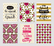 Grunge cards collection Royalty Free Stock Photo