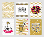Grunge cards collection Royalty Free Stock Images