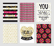 Grunge cards samlingen royaltyfri illustrationer
