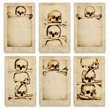 Grunge Cards With Human Skulls And Bones Stock Photo
