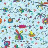 Grunge cartoon hand draw seamless pattern vector illustration