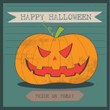 Grunge cartoon jack o lantern smiley halloween background Stock Images