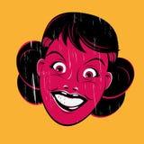 Grunge cartoon woman. Illustration of a grunge cartoon woman Stock Image
