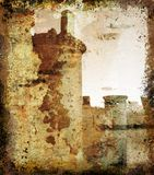 Grunge castle - illustration. Grunge art work , with space for writing royalty free illustration