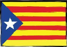 Grunge Catalonia flag or banner Royalty Free Stock Photos