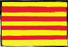 Grunge Catalonia flag or banner Royalty Free Stock Photography