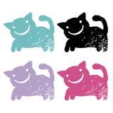 Grunge cats Stock Photos