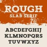 Grunge cegiełki Serif 001 Zdjęcia Royalty Free