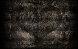 Grunge cement wall texture for abstract heart background Stock Image