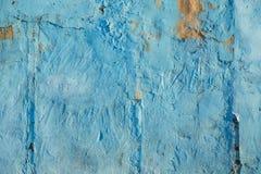 Grunge cementu ściany tekstury błękitny stary tło Obrazy Stock