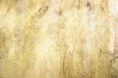 Grunge cementu ściany tekstury jasnożółty tło Obrazy Royalty Free