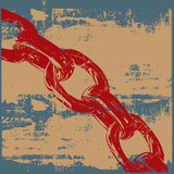 Grunge Chain. Background grunge illustration of a red chain Stock Photo