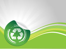 Grunge che ricicla simbolo Fotografia Stock