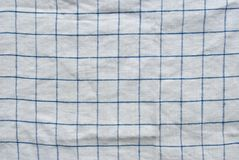 Grunge checked fabric background or texture Stock Photography