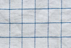 Grunge checked fabric background or texture Royalty Free Stock Photos