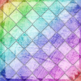 Grunge checkered background Stock Photography