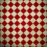 Red grunge checkered background Stock Images