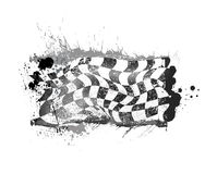 Grunge checkered race flage Royalty Free Stock Photo