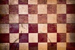 Grunge Checkered rojo Imagenes de archivo