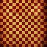 Grunge Checkered rosso Fotografia Stock Libera da Diritti