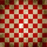 Grunge Checkered rosso Immagini Stock