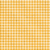 Grunge Checkered tablecloths patterns YELLOW - endlessly Stock Images