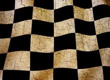 Grunge chequered a bandeira Fotos de Stock Royalty Free