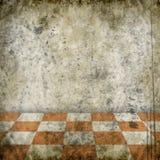 Grunge chess room Stock Image