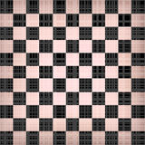 Grunge chessboard vector background. Royalty Free Stock Images