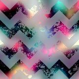 Grunge chevron pattern on blur background. Stock Photo