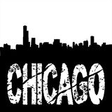 Grunge Chicago with skyline Royalty Free Stock Image