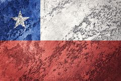 Grunge Chile flag. Chilean flag with grunge texture. Stock Images