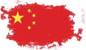 Grunge china flag Stock Photo